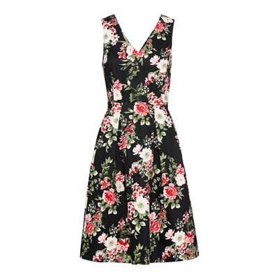 Damen-Kleid mit elegantem Blumendesign