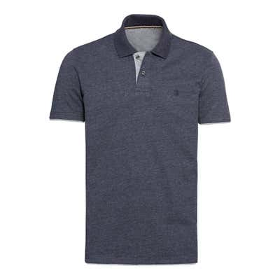 Herren-Poloshirt mit Kontrast-Effekt