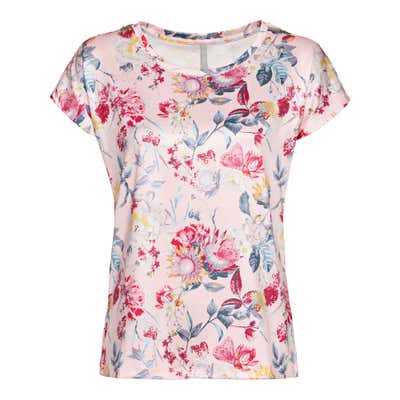Damen-T-Shirt mit Blumendesign