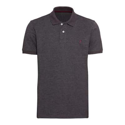 Herren-Poloshirt in Melange-Optik