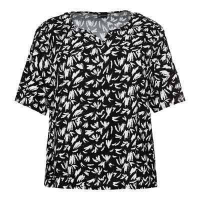 Damen-Bluse mit schickem Muster, große Größen