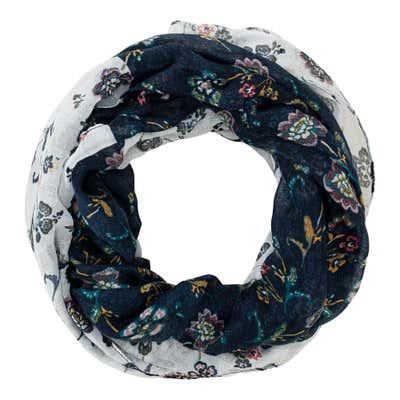 Damen-Loop-Schal mit hübschem Muster, 2er Pack