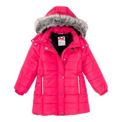 Mädchen-Jacke mit schickem Kunstfell