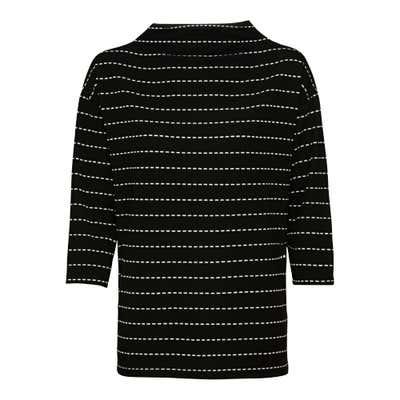 Damen-Sweatshirt mit modischem Streifenmuster