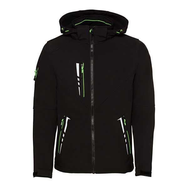 Herren-Outdoor-Jacke mit Neon-Effekten