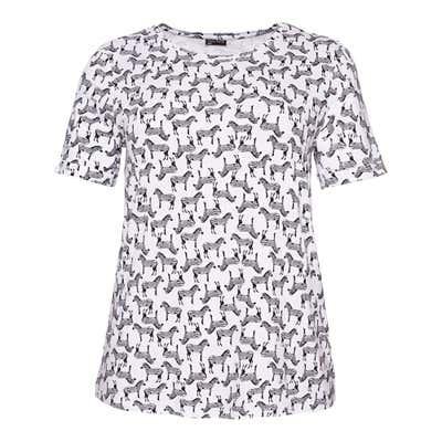 Damen-T-Shirt mit hübschem Muster, große Größen