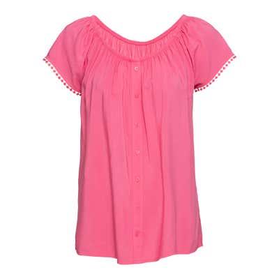Damen-Bluse mit Zierknopfleiste