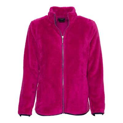 Damen-Fleece-Jacke in flauschiger Qualität