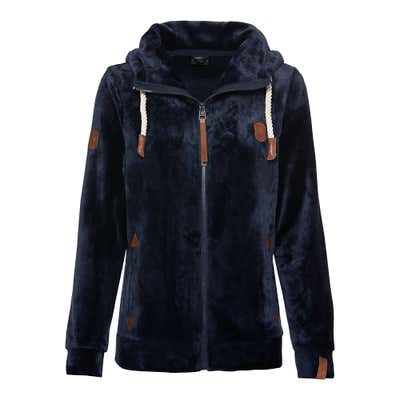 Damen-Fleece-Jacke mit Kapuze