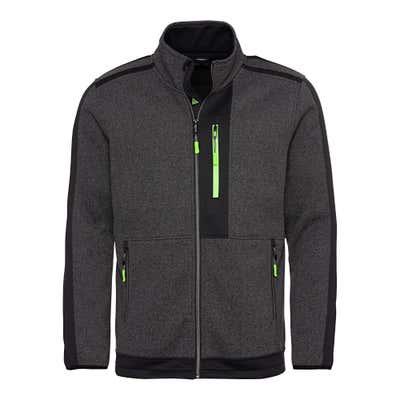 Herren-Strickfleece-Jacke mit 3 Reißverschluss-Taschen