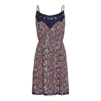 Damen-Kleid mit Spitze am Ausschnitt