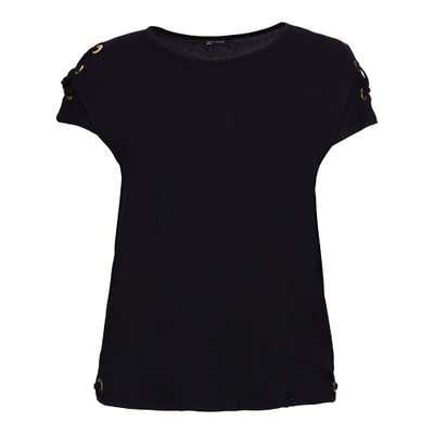 Damen-T-Shirt mit schicker Schnürung, große Größen