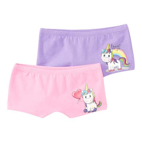 Mädchen-Panty mit Regenbogen-Einhorn, 2er Pack