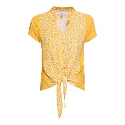 Damen-Bluse mit trendigem Knoten
