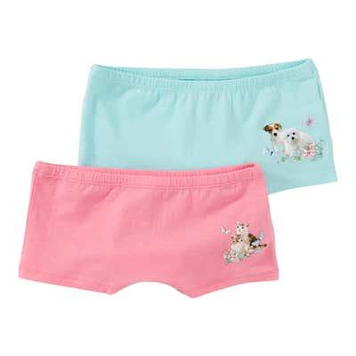 Mädchen-Panty mit Tiermotiven, 2er Pack