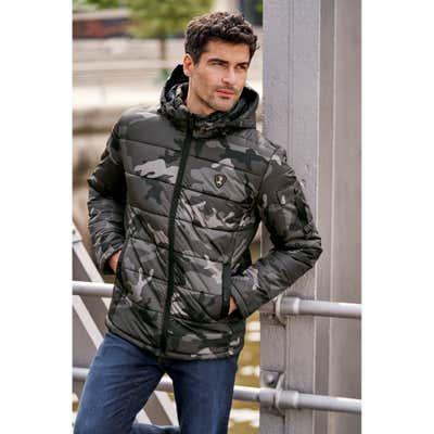 Herren-Jacke mit stylischem Camouflage-Muster