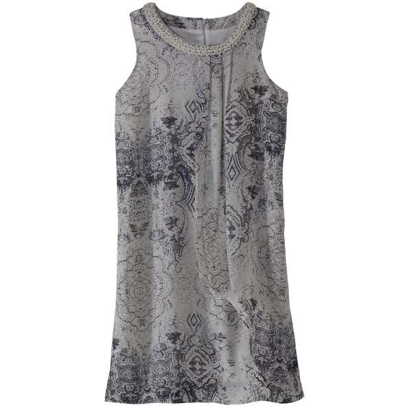 Damen-Kleid mit Perlenverzierung