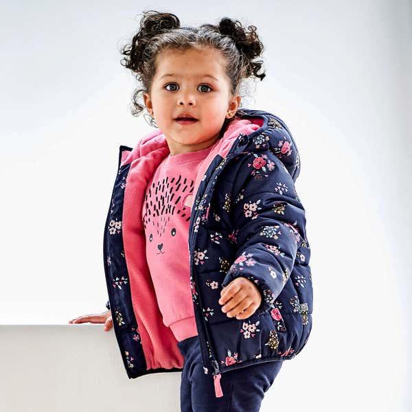 Baby-Mädchen-Jacke mit kuschelweichem Futter