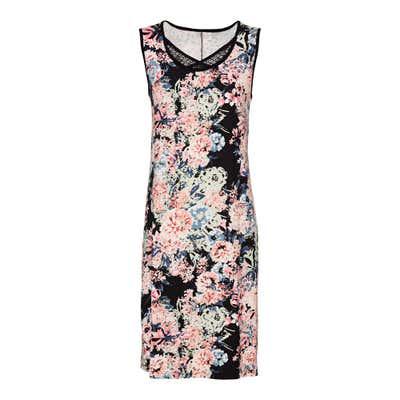 Damen-Kleid mit atemberaubenden Blumenmuster