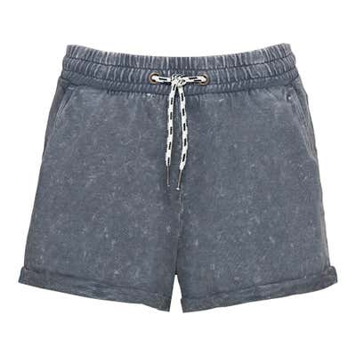 Damen-Shorts mit Acid-Wash-Effekt