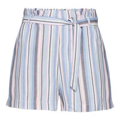 Damen-Shorts mit Streifenmuster, mit Gürtel
