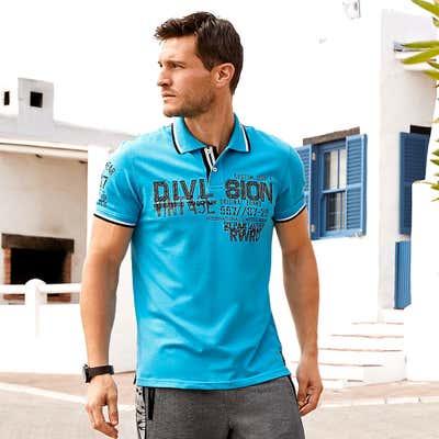 Herren-Poloshirt mit stylischer Stickerei