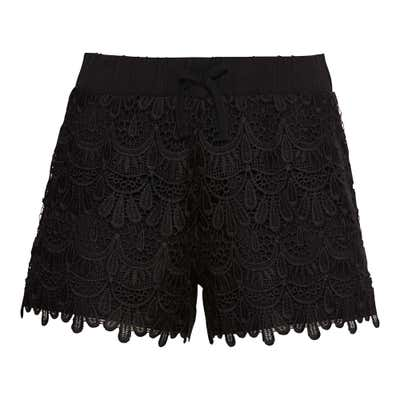 Damen-Shorts mit großem Spitzeneinsatz