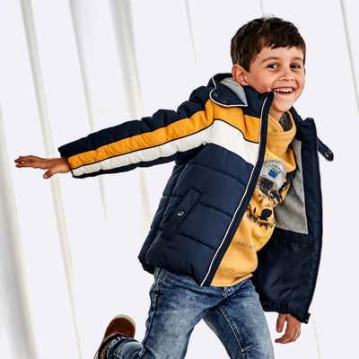 Kinder-Jungen-Jacke mit reflektierenden Applikation