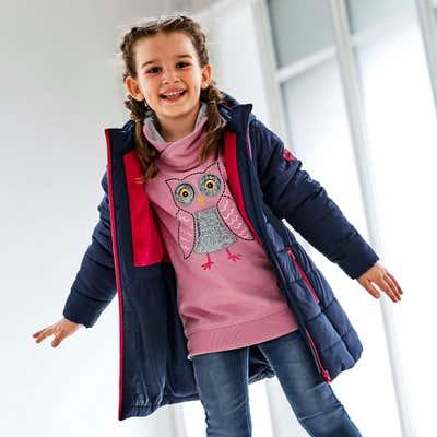 Kinder-Mädchen-Jacke mit reflektierenden Appilkationen