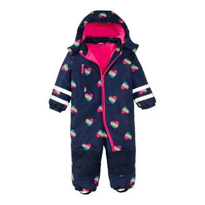 Baby-Mädchen-Schneeanzug mit Kapuze