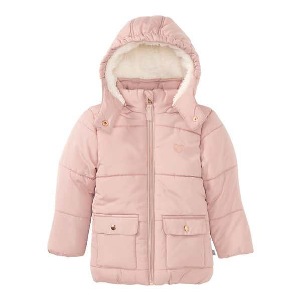 Baby-Mädchen-Jacke mit Plüsch-Futter
