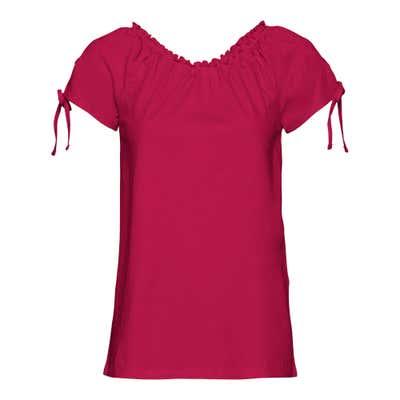 Damen-T-Shirt mit verspielten Bindebändern