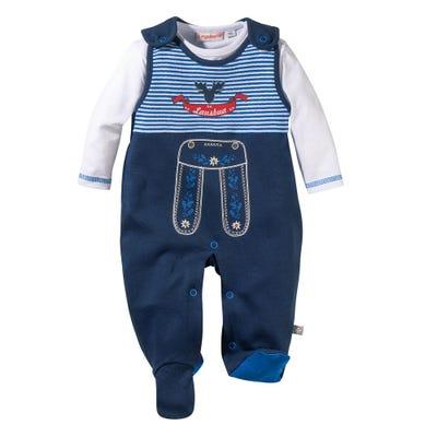 Baby-Jungen-Strampler-Set mit Baumwolle, 2-teilig