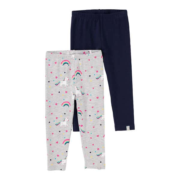 Baby-Mädchen-Leggings mit Fantasie-Muster, 2er Pack