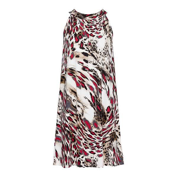 Damen-Kleid mit raffiniertem Leo-Design