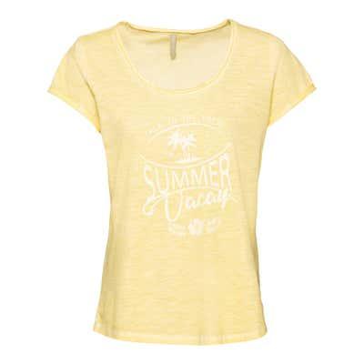 Damen-T-Shirt in Oil-Washed-Optik