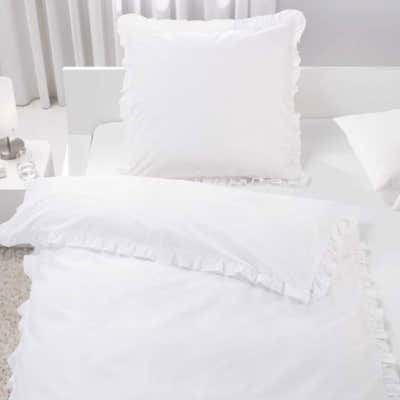 Baumwoll-Bettwäsche mit hübschen Rüschen
