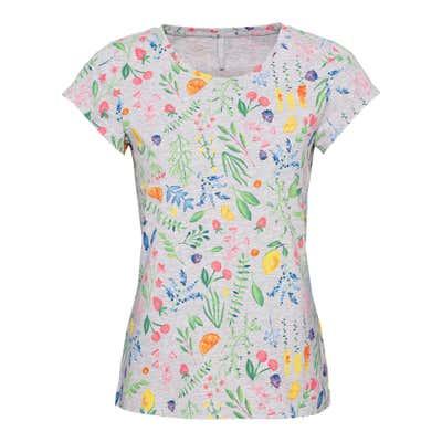Damen-T-Shirt mit trendigem Früchte-Muster