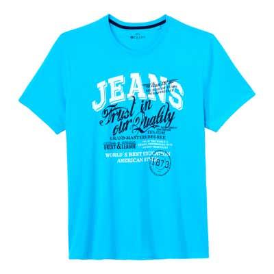 Herren-T-Shirt in maritimen Stil, große Größen