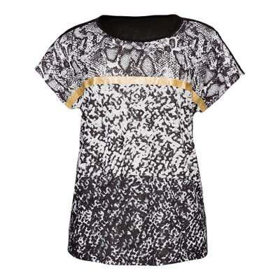 Damen-T-Shirt mit Glanzstreifen, große Größen