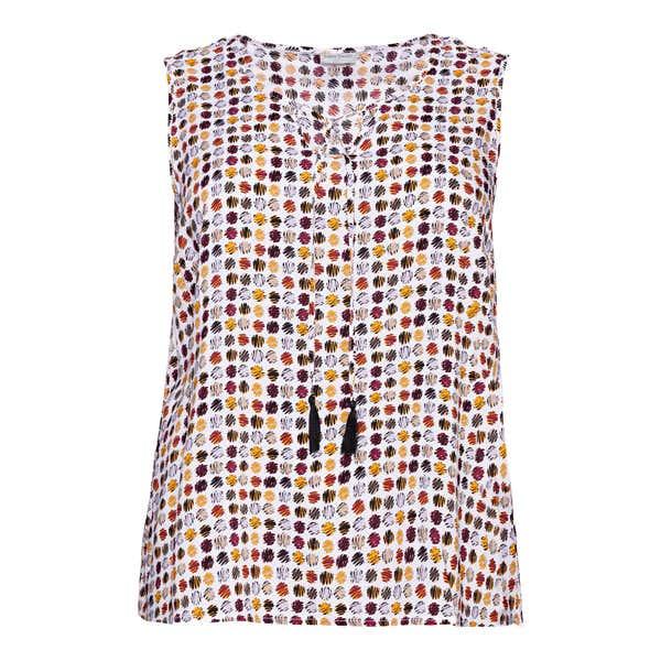 Damen-Bluse mit hübschen Bindebändern, große Größen