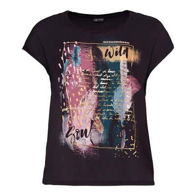 Damen-T-Shirt mit überschnittenen Ärmeln, große Größen