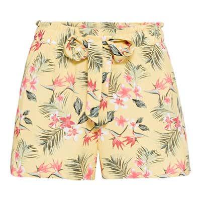 Damen-Bermudas mit tropischem Muster