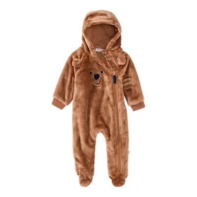 Baby-Jungen-Overall aus Plüsch
