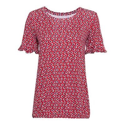 Damen-T-Shirt mit Kreis-Muster