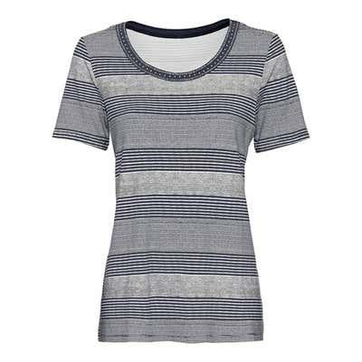 Damen-T-Shirt mit modernem Streifenmuster