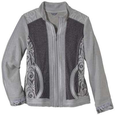 Damen-Jacke mit raffinierten Spitzenverzierungen