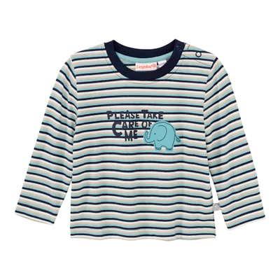Baby-Jungen-Shirt mit Elefanten-Aufdruck