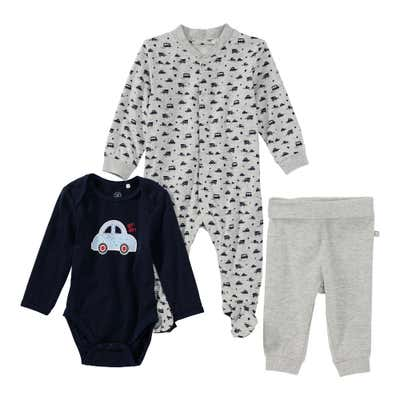 Baby-Jungen-Set mit Strampler, 3-teilig
