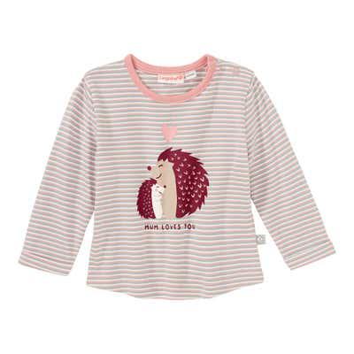 Baby-Mädchen-Shirt mit Igel-Frontaufdruck